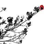"""""""Longing To Be Red - Black White And Red Series"""" by bettynorthcutt"""