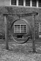 Iron Ring and Old Windows b+w