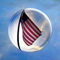 American Flag in a Magical Bubble
