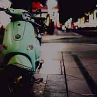green vespa. new orleans.