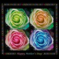 Colorful Rose Spirals Happy Mothers Day Hugs and K