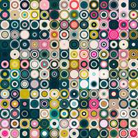 Circles and Squares 25. Modern Decor Abstract Fine