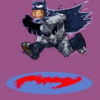 messy_batman2 Art Prints & Posters by JASON JAMES