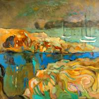abstract seascape Art Prints & Posters by Boyan Dimitrov