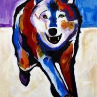 Running Wolf Art Prints & Posters by Steve Willgren