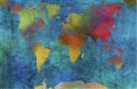 Colourful  World Map