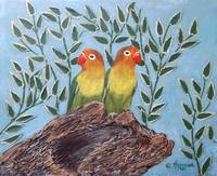 Two Tropical Birds Painting