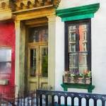 """""""Hoboken NJ - Window With Reflections and Windowbox"""" by susansartgallery"""