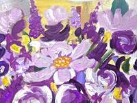 Floral Painting in Lavender