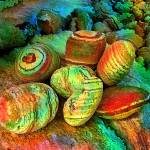 """Colored stones by rafi talby"" by RT3D"