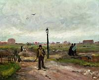 The Outskirts of Paris, 1886 (oil on cardboard)