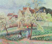 Plum Trees in Flower, 1889 (oil on canvas)