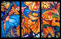 BUTTERFLY ABSTRACT TRIPTYCH