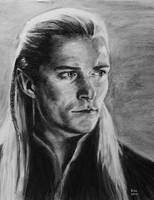 Legolas. Charcoal  drawing