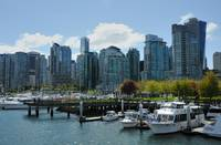 Downtown of Vancouver from Burrad Inlet
