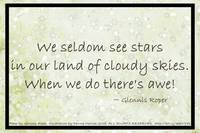 Cloudy Sky Star haiku