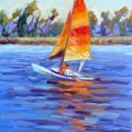 """Orange Sail"" by KimStenbergFineArt"