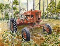 farm tractor painting