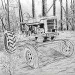 """old farm tractor drawing"" by derekmccrea"