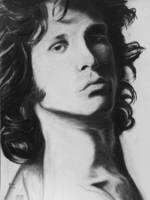 Jim Morrison. Charcoal drawing