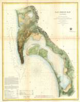Vintage Map of The San Diego Bay (1857)