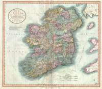 Vintage Map of Ireland (1799)