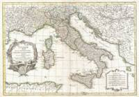 Vintage Map of Italy (1770)
