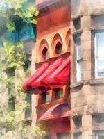 Hoboken NJ - Red Awnings on Brownstone
