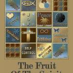 """Fruit Of The Spirit Poster Blue/Brown"" by TruthJC"