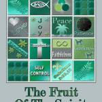 """Fruit Of The Spirit Poster Turquoise Color"" by TruthJC"