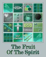 Fruit Of The Spirit Poster Turquoise Color
