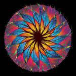 """""""Stained Glass Mandala"""" by rjconway"""