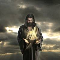 Jesus In The Clouds With Radiant Power Art Prints & Posters by Alex Acropolis Calderon