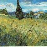 """Van Gogh Green Wheat Field with Cypress"" by neilepi"