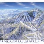 """1994 Killington, North slopes"" by jamesniehuesmaps"