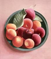 Bowl of Fruit (egg tempera on paper)