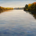 """Autumn Day on the Hudson River"" by TakeyceArt"