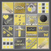 Fruit Of The Spirit Poster Yellow/Grey