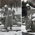 """korean war memorial soldiers Statutes winter snow"" by dcphoto"