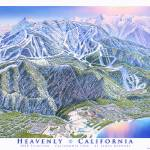 """Heavenly, California Side"" by jamesniehuesmaps"