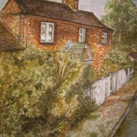 English cottage Art Prints & Posters by Teresa white