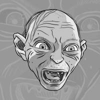 Gollum - Grey Art Prints & Posters by Manolo Saviantoni