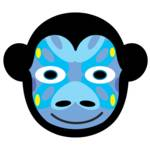 """Animal Mask Icon Monkey"" by charker"