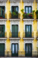 Colorful Balconies in Madrid, Spain
