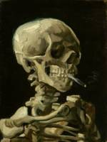 Skeleton with Burning Cigarette - Vincent Van Gogh