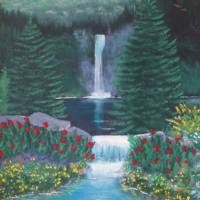 Mountain Falls Art Prints & Posters by Eileen Blair