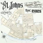 """Vintage 1905 Map of St. Johns, Oregon"" by NPDX"