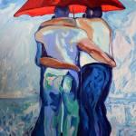 """Red Umbrella Rainbears"" by BeaconArtWorksCorporation"