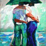 """Green Umbrella Rain Bears"" by BeaconArtWorksCorporation"