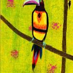 """Aracari II, original painting"" by LimeCreekArt"